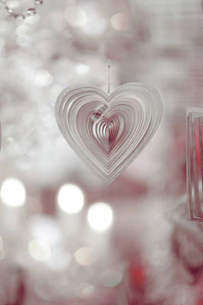 Rights-managed Wall Art - Photograph - The Heart. Silver by Jenny Rainbow