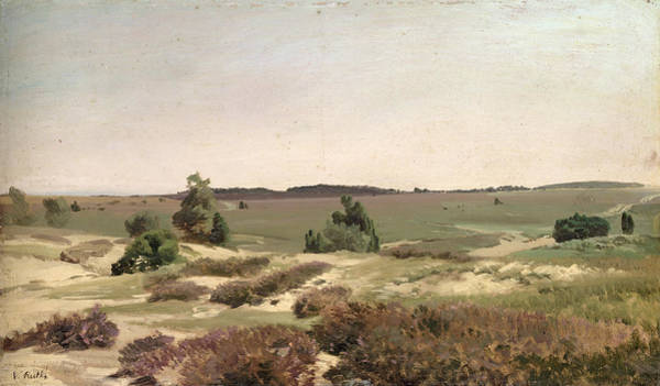 Wall Art - Painting - The Heath Near Wilsede by Valentin Ruths