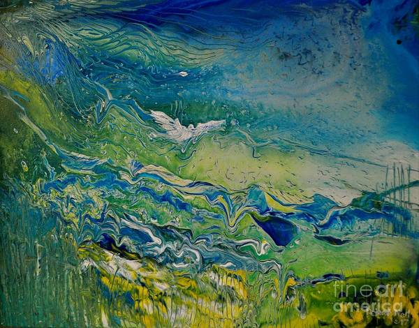 Painting - The Heavens And The Eart by Deborah Nell