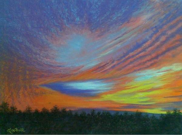 Wall Art - Pastel - The Heavens Declare by Lisa Bell
