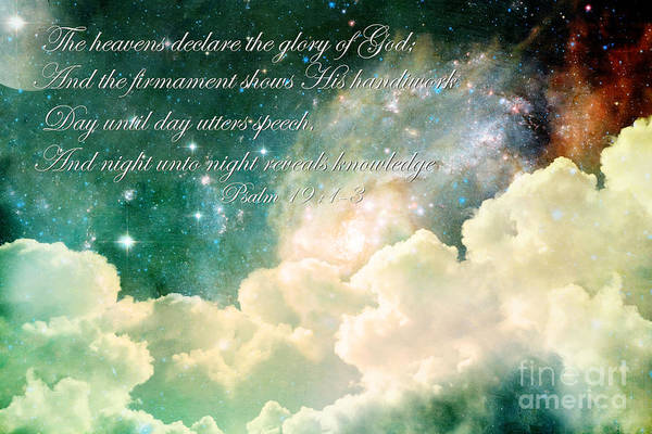 Scripture Photograph - The Heavens Declare by Stephanie Frey