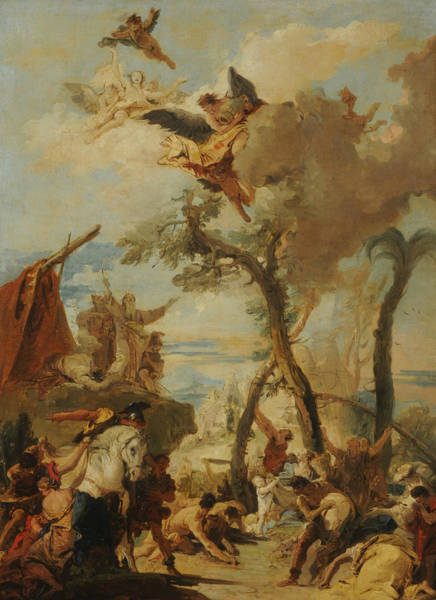 Painting - The Hebrews Gathering Manna In The Desert  by Giovanni Battista Tiepolo