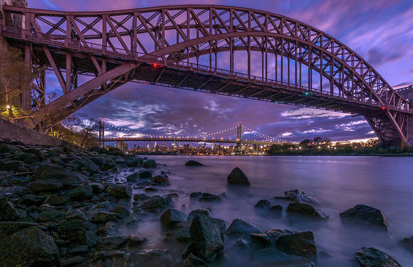 Astoria Bridge Photograph - The Hell Gate Bridge by John Randazzo