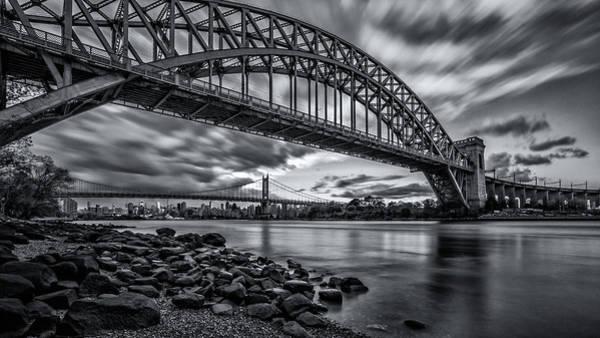Astoria Photograph - The Hell Gate Bw by John Randazzo