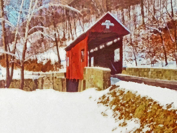 Digital Art - The Henry Bridge In Winter by Digital Photographic Arts