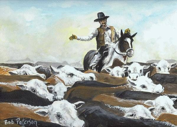 Horsemanship Painting - The Herder by Bob Patterson