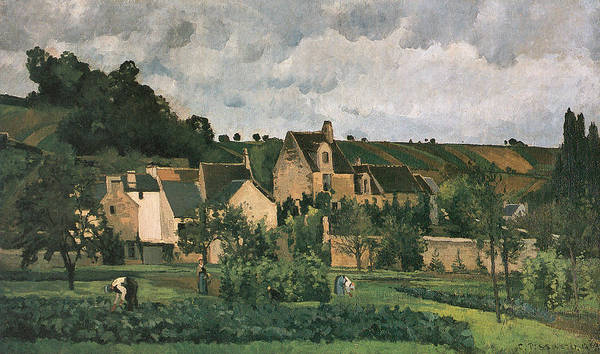 Wall Art - Painting - The Hermitage At Pontoise by Camille Pissarro