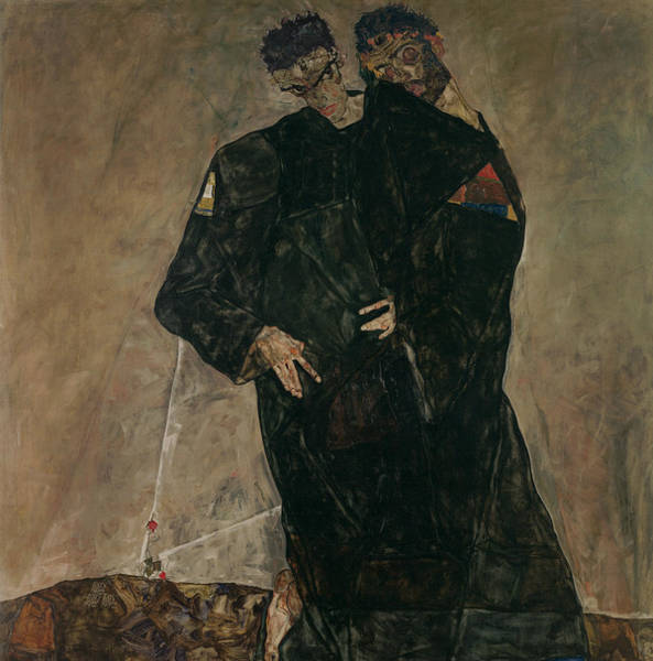 Hermit Wall Art - Painting - The Hermits by Egon Schiele