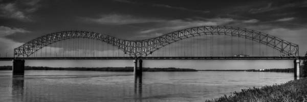 Photograph - The Hernando De Soto Bridge Bw 001 by Lance Vaughn