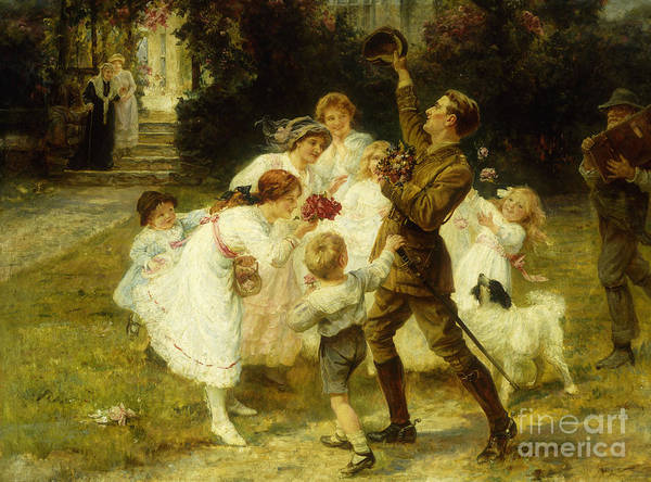 Service Dog Painting - The Hero Of The Hour  by Frederick Morgan