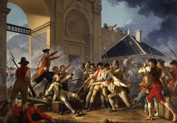Heroic Wall Art - Painting - The Heroic Courage Of The Young Desilles by Jean-Jacques-Francois Le Barbier