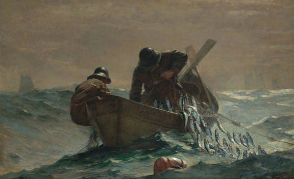 Homer Painting - The Herring Net by Winslow Homer