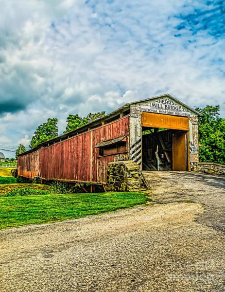 Photograph - The Herrs Mill Bridge - Pa by Nick Zelinsky