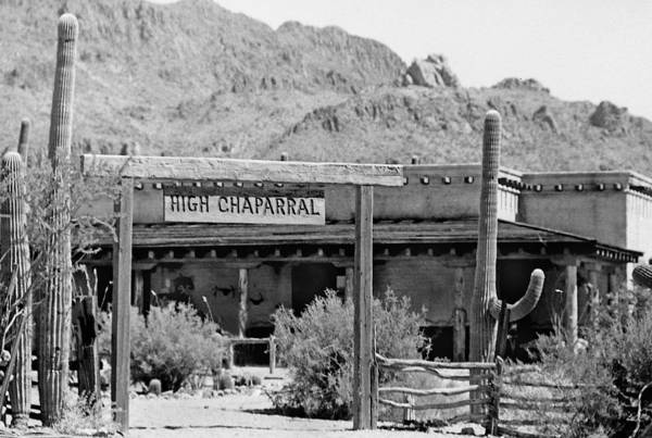 The High Chaparral Set With Sign Old Tucson Arizona 1969-2016 Art Print