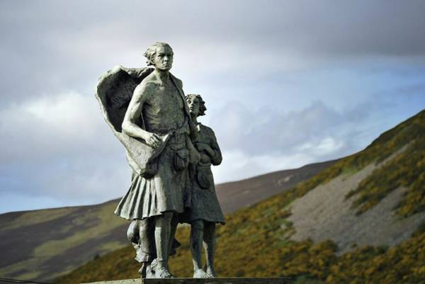 The Highland Clearances Memorial. Sutherland, Scotland Art Print