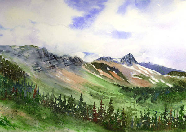 Painting - The Highline From Granite Park - Glacier by Marsha Karle