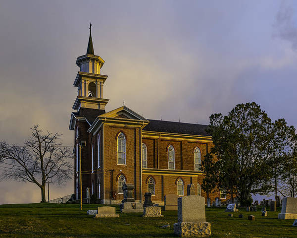 Photograph - The Hill Church Sunset by Nick Zelinsky