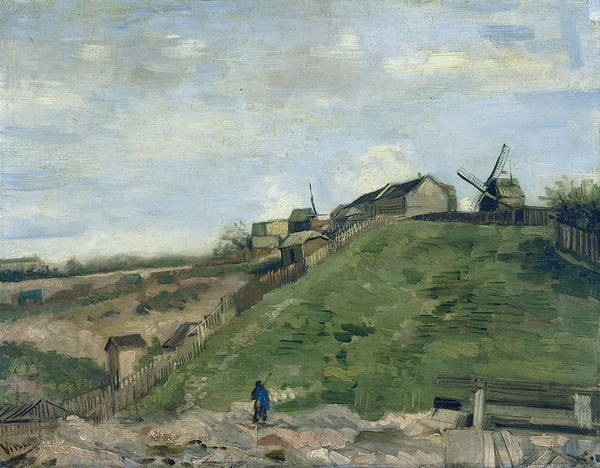 Alpine Meadow Painting - The Hill Of Montmartre With Stone Quarry And Windmills, 1886 02 by Vincent Van Gogh