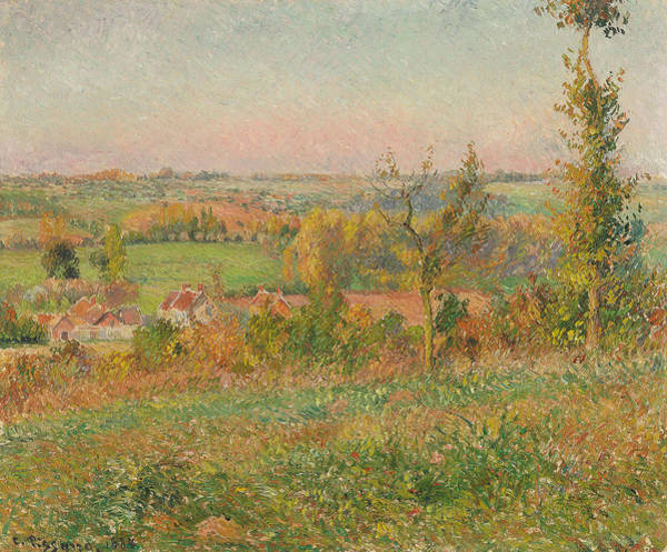 Wall Art - Painting - The Hills Of Thierceville Seen From The Country Lane by Camille Pissarro