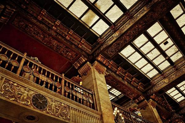 Photograph - The Historic Davenport Hotel Balcony by Michelle Calkins