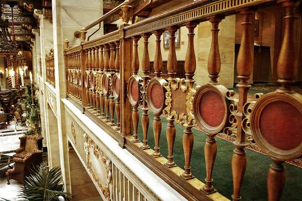 Photograph - The Historic Davenport Hotel Balcony Railings by Michelle Calkins