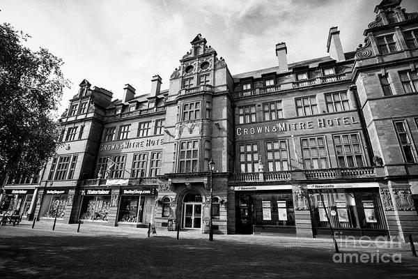 Wall Art - Photograph - The Historic Edwardian Crown And Mitre Hotel Building Carlisle Cumbria England Uk by Joe Fox