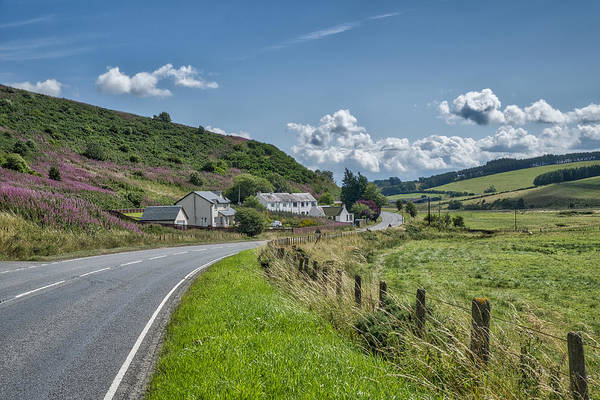 Photograph - The Historic Scottish Borders Road by Jeremy Lavender Photography
