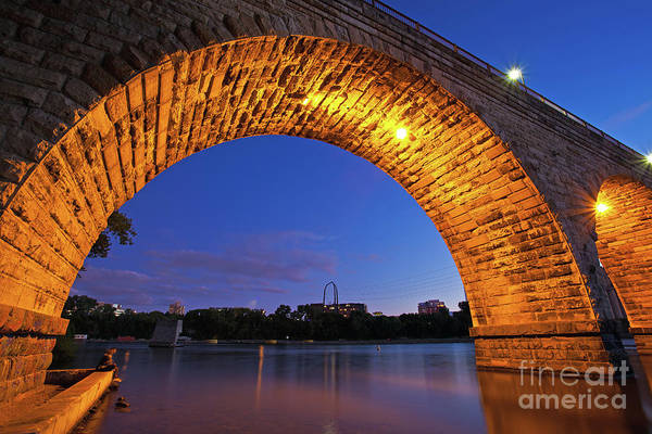 Photograph - The Historic Stone Arch Bridge In Minneapolis, Minnesota by Sam Antonio Photography