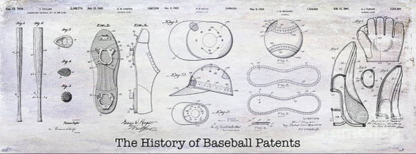 Wall Art - Photograph - The History Of Baseball Patents by Jon Neidert