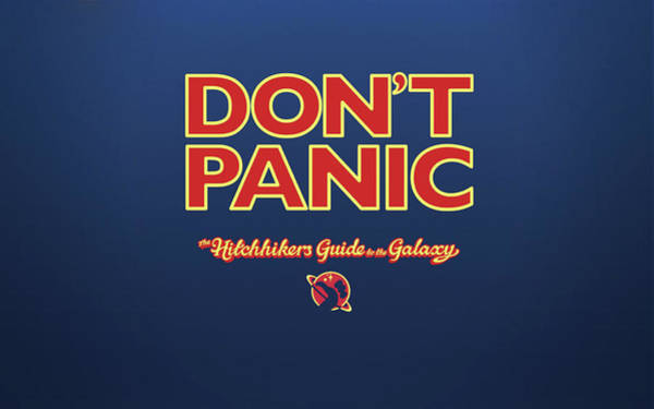 Design Digital Art - The Hitchhiker's Guide To The Galaxy by Super Lovely