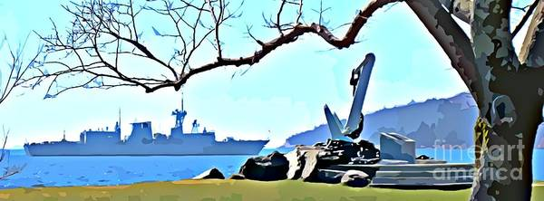 Battle Of The Atlantic Wall Art - Painting - The Hmcs Montreal Poster by John Malone