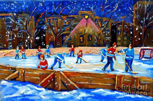 Painting - The Hockey Rink by Carole Spandau
