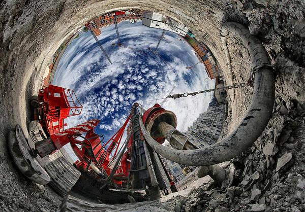 Fisheye Photograph - The Hole by Francois Casanova