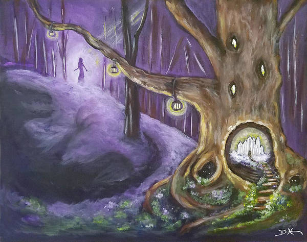 Painting - The Hollow Tree by Diana Haronis