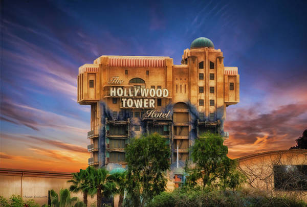 Wall Art - Photograph - The Hollywood Tower Hotel Disneyland by Thomas Woolworth
