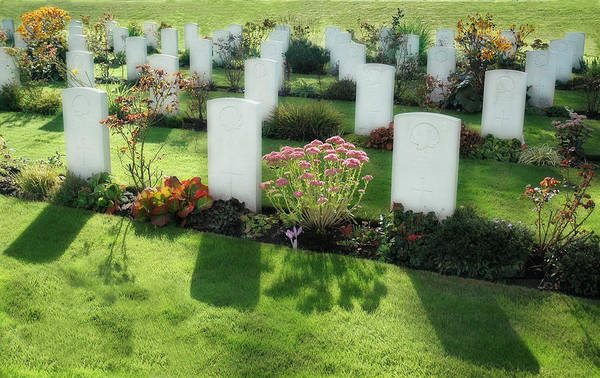 Photograph - The Holten Cemetery For Fallen Canadian Soldiers by Ginger Wakem