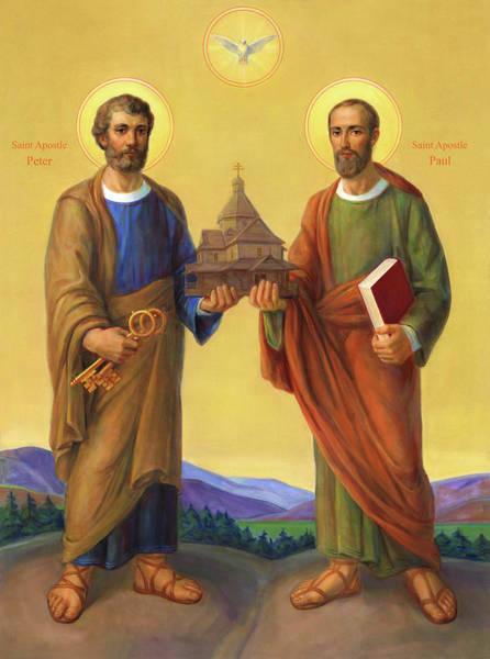 Wall Art - Painting - The Holy Apostles Saint Peter And Saint Paul by Svitozar Nenyuk