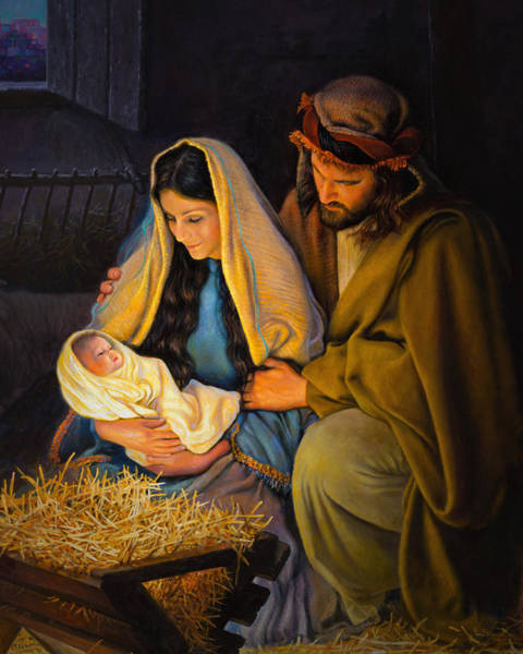 Baby Painting - The Holy Family by Greg Olsen