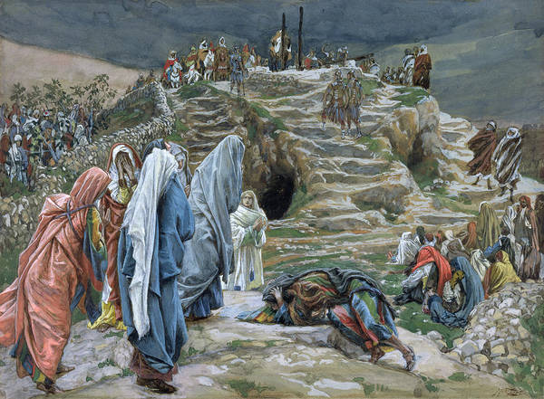 Golgotha Painting - The Holy Women Stand Far Off Beholding What Is Done by James Jacques Joseph Tissot
