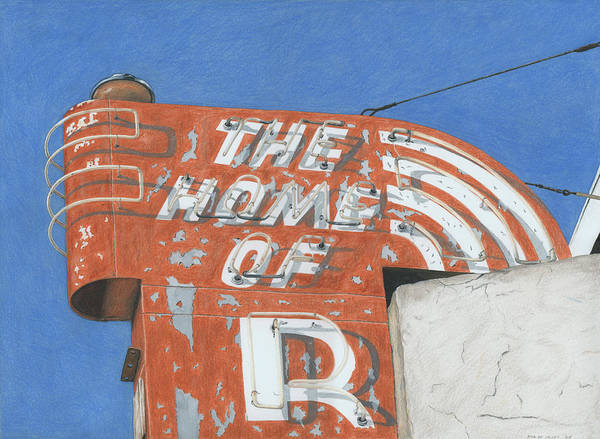 Mixed Media Drawing - The Home Of R by Rob De Vries