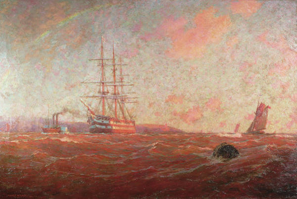 Falmouth Wall Art - Painting - The Home Port, Falmouth by William Ayerst Ingram