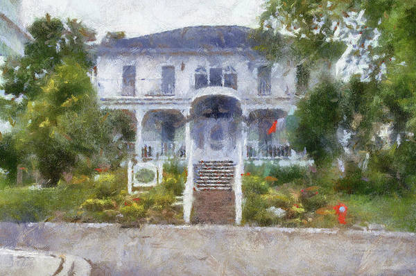 Wall Art - Photograph - The Homes Of Mackinac Island Michigan 04 Pa by Thomas Woolworth