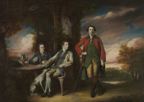 Painting - The Honorable Henry Fane With Inigo Jones And Charles Blair by Joshua Reynolds