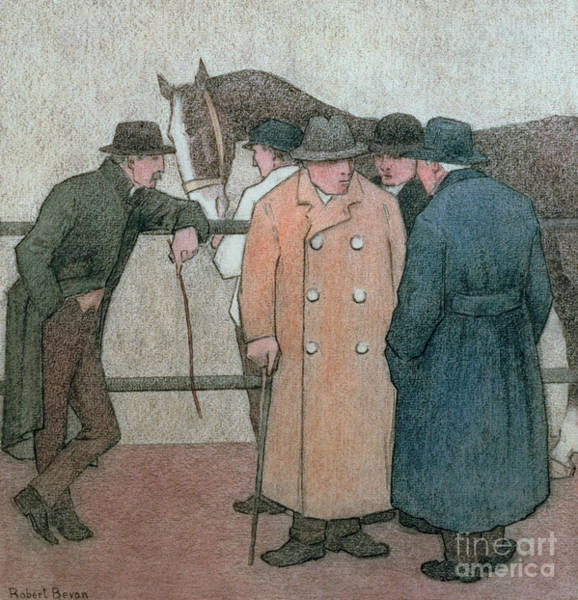 Wall Art - Painting - The Horse Dealers  by Robert Polhill Bevan