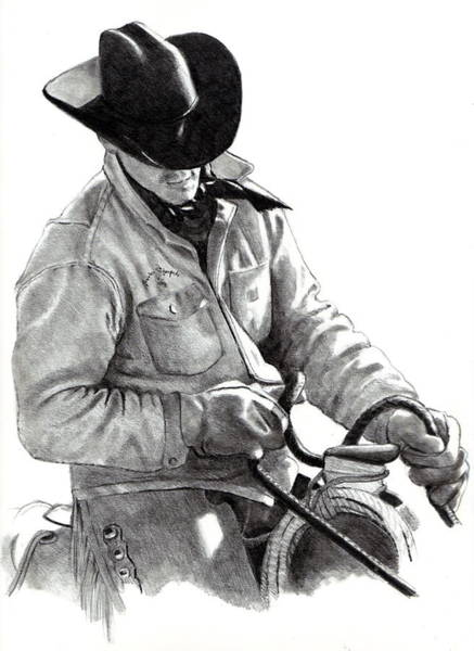 Wall Art - Drawing - The Horse Trainer by Joyce Geleynse