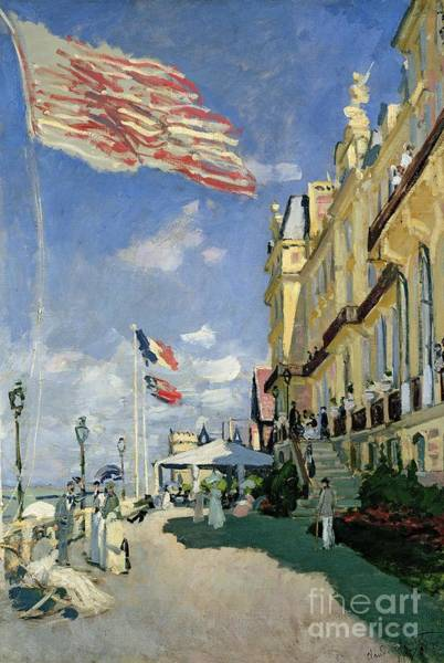 Monet Painting - The Hotel Des Roches Noires At Trouville by Claude Monet