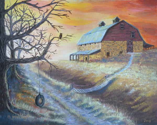 Wall Art - Painting - The Hott Ranch by Jerry McElroy