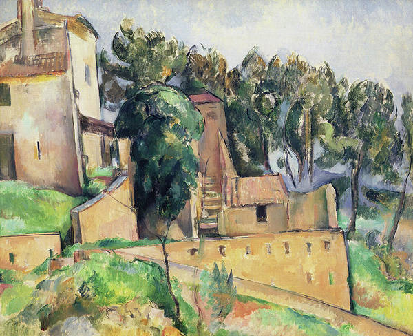 Wall Art - Painting - The House At Bellevue by Paul Cezanne