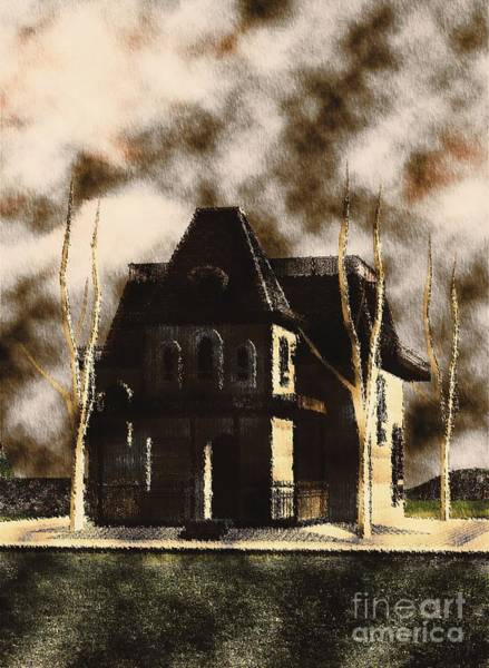 Scream Painting - The House From Psycho by Mary Bassett