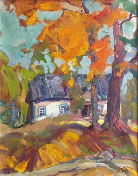 Ignatenko Painting - The House In Chervonka Village by Sergey Ignatenko